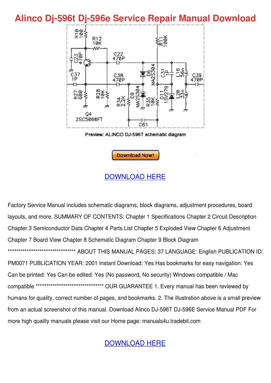 Alinco Dj 596t Dj 596e Service Repair Manual by FeliciaDaily - issuu