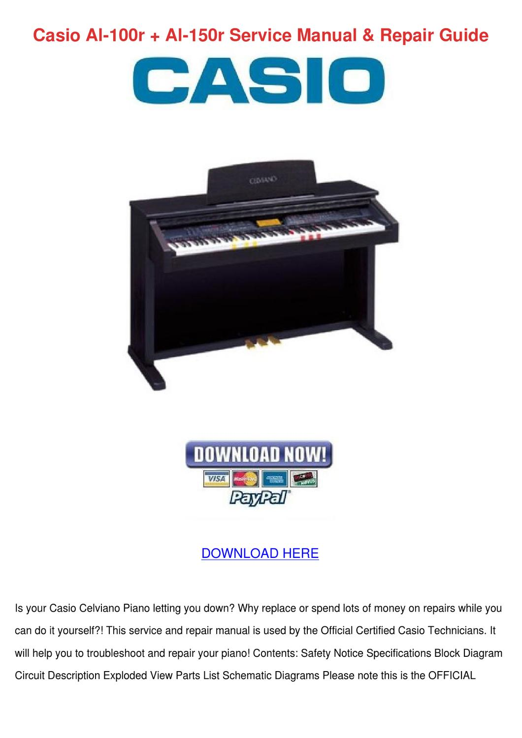 Casio Al 100r 150r Service Manual Repair G By Feliciadaily Issuu Piano Diagram With Notes