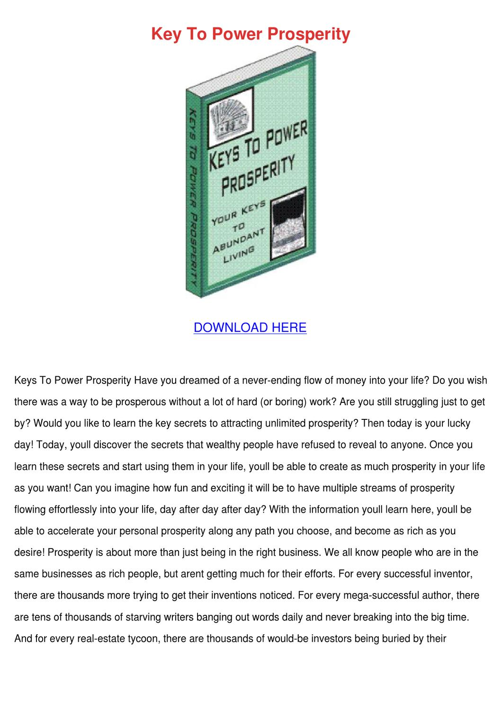 101 keys to your prosperity-pdf
