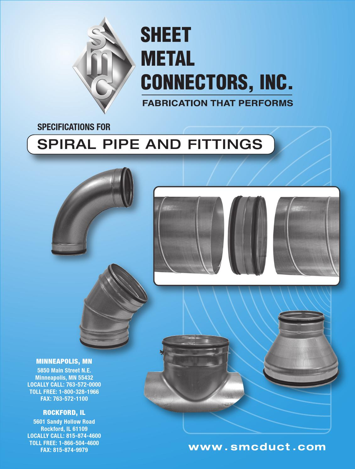 Single Wall Spiral Pipe Amp Fittings By Gasman Design Issuu