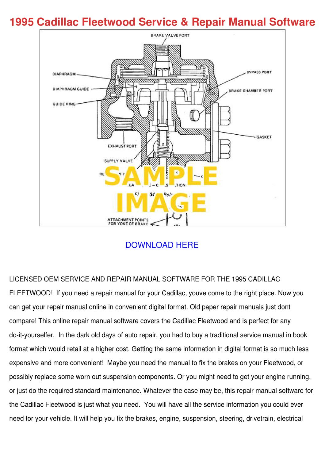 1995 Cadillac Fleetwood Service Repair Manual by AntoinetteWillie - issuu