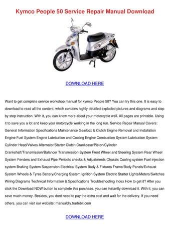 kymco people 250 1999 2008 factory service repair manual download pdf