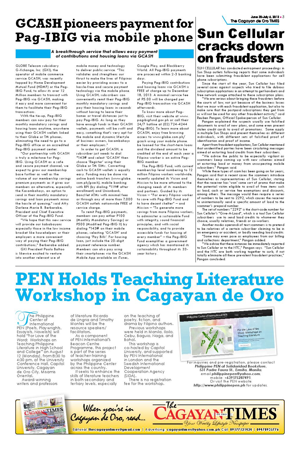 Cagayan Times (June 30 - July 6, 2013) by Mindanao Daily
