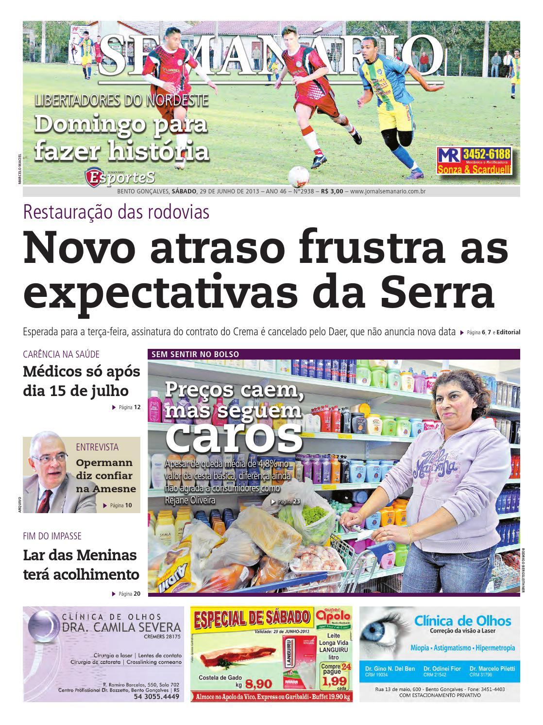 29 06 2013 - Jornal Semanário - Edição 2938 by Jornal Semanário - Bento  Gonçalves - RS - issuu e4a398ef580b6