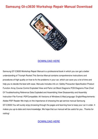 samsung gt c3630 workshop repair manual downl by keirahodgson issuu rh issuu com Samsung Galaxy Pro Samsung Galaxy Pro