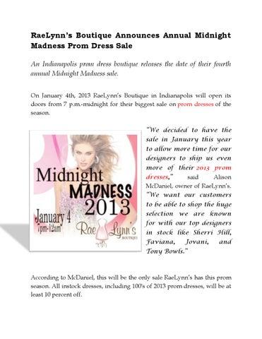 8ab6048c3b4 Raelynn s boutique announces annual midnight madness prom dress sale ...