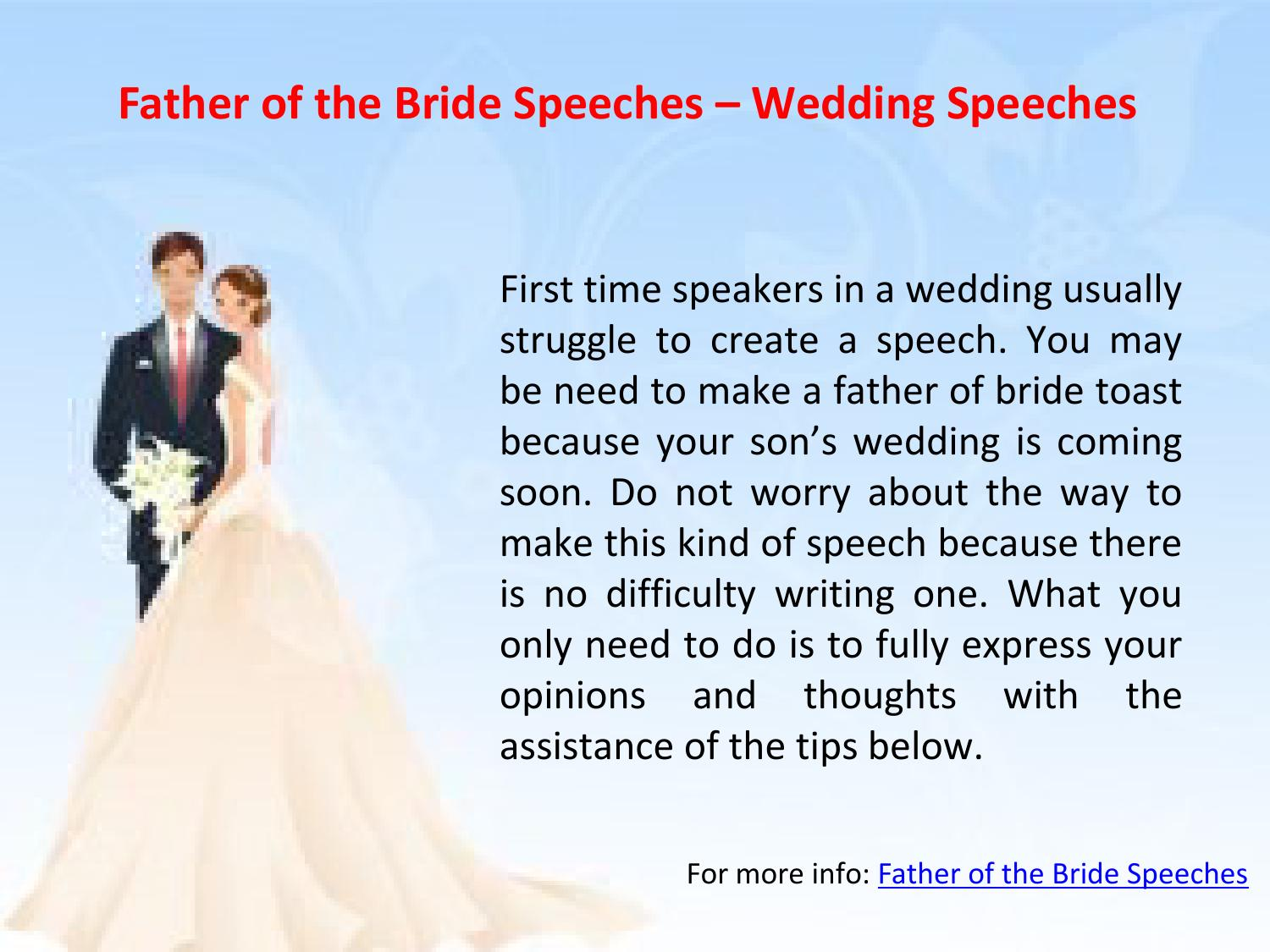 Father Of The Bride Speeches Wedding Speeches By Rubia Olivia Issuu