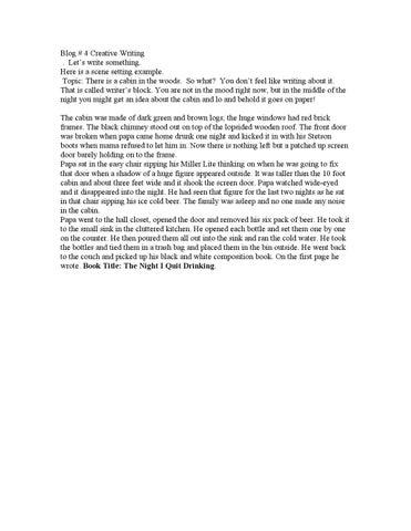 blog creative writing