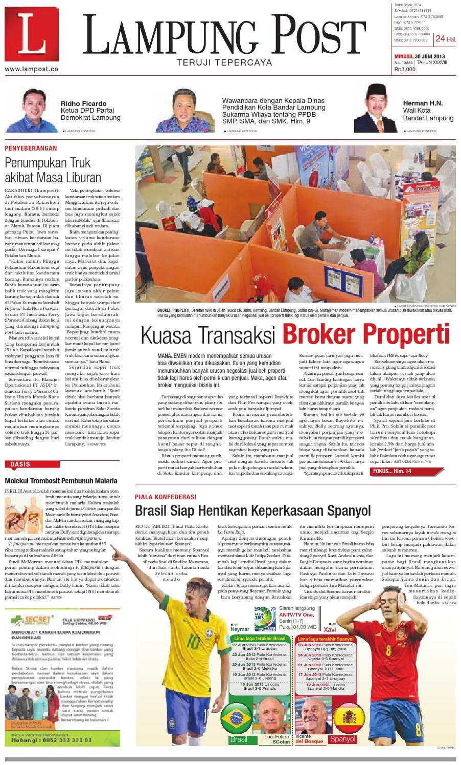 Lampungpost edisi 30 juni 2013 by Lampung Post - issuu 4e63112f2a