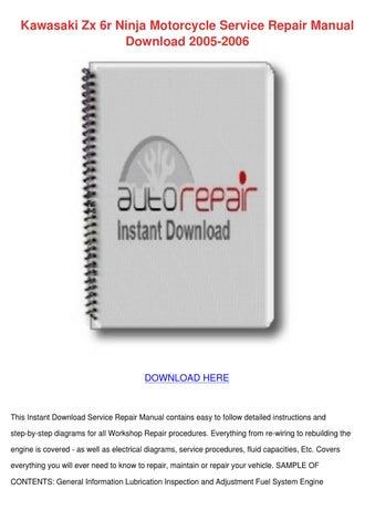 Service Manual Contents pdf Kawasaki kz750 ltd 450