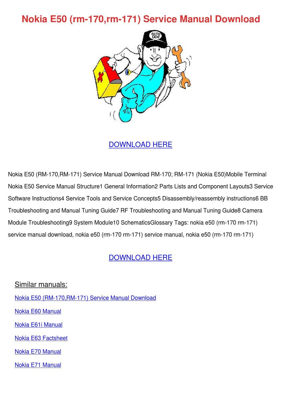 nokia e50 rm 170rm 171 service manual downloa by Nokia E72 Nokia E75