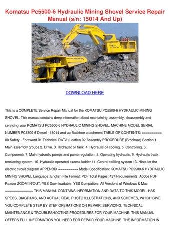 Komatsu       Pc5500       6    Hydraulic Mining Shovel Serv by StevieSeaman  Issuu