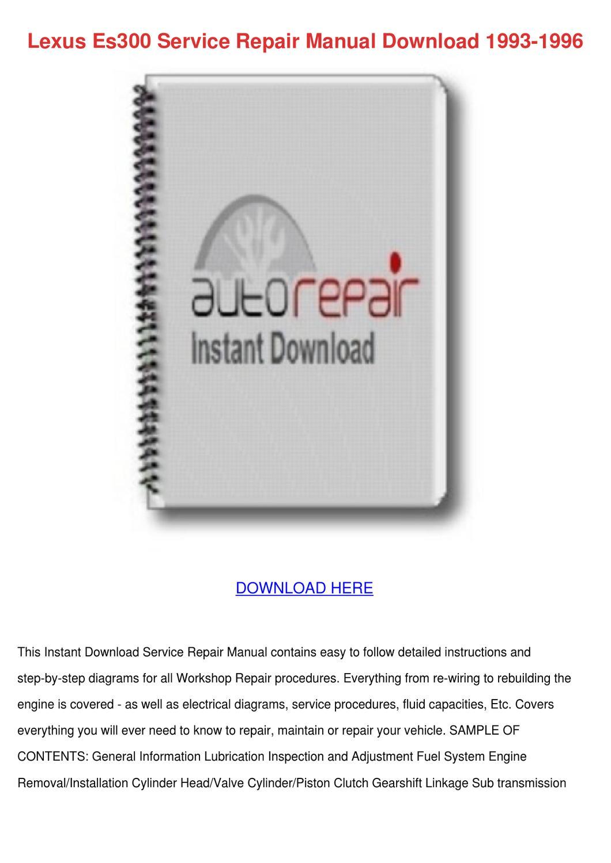 Lexus Es300 Service Repair Manual Download 19 by BeckyWeatherford - issuu