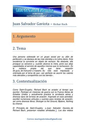 Juan Salvador Gaviota Comentario Y Frases By Mario Paternina