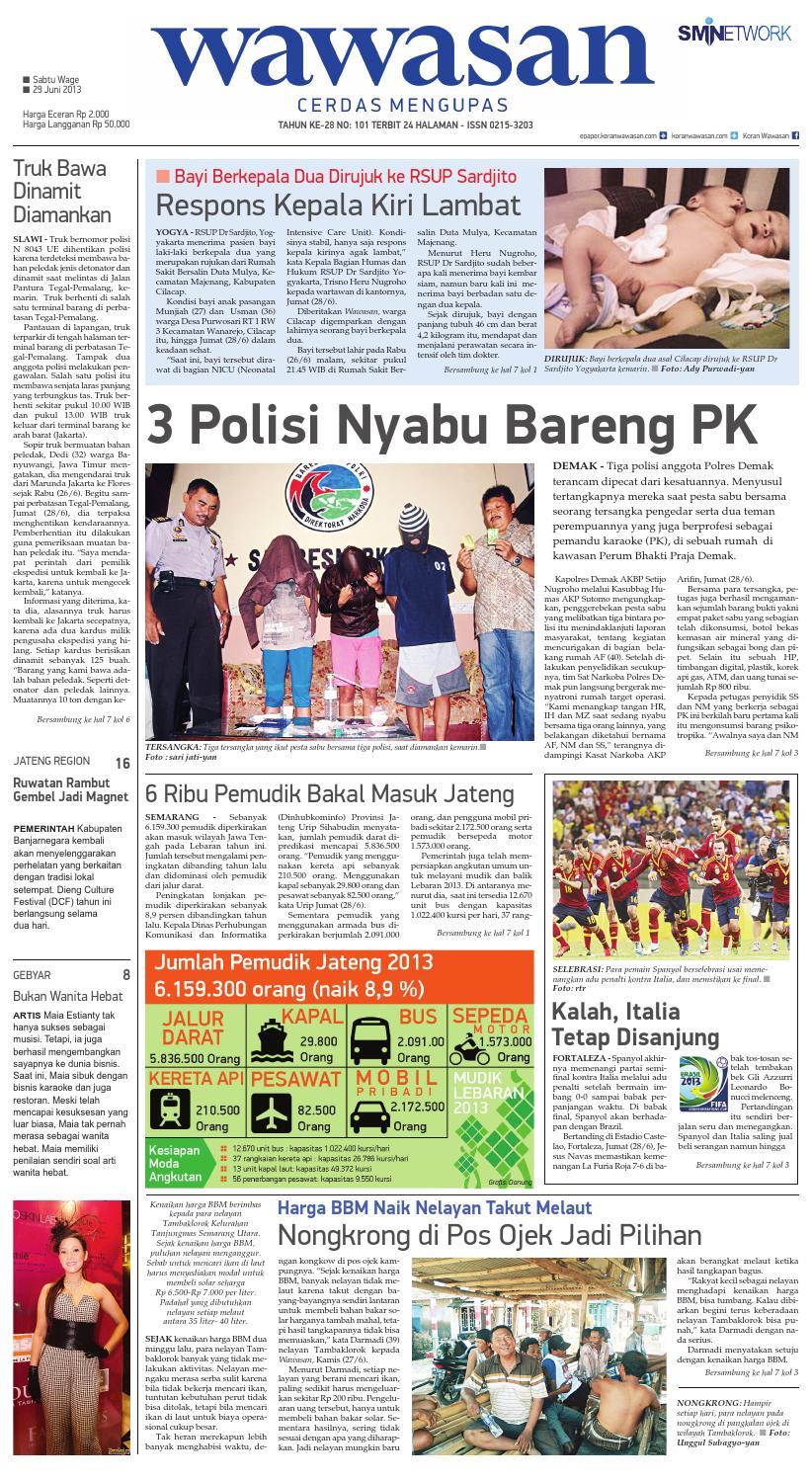 WAWASAN 29 Juni 2013 by KORAN PAGI WAWASAN - issuu 8125271008