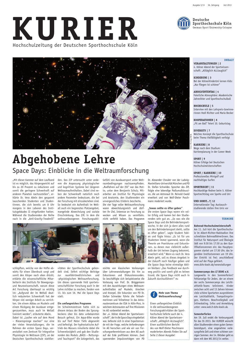KURIER by Deutsche Sporthochschule Köln - issuu
