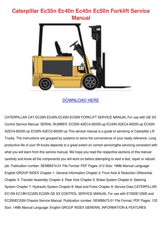 Caterpillar Ec35n Ec40n Ec45n Ec50n Forklift by IzettaGay - issuu