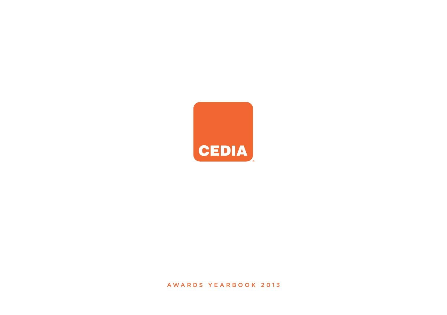 Cedia Awards Yearbook 2013 By Cedia Emea Issuu