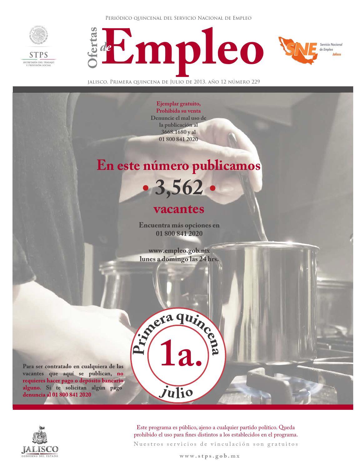 Ofertas De Empleo Primer Quincena Julio 2013 By Comunicaci N Stps  # Vacantes Muebles Dico Guadalajara