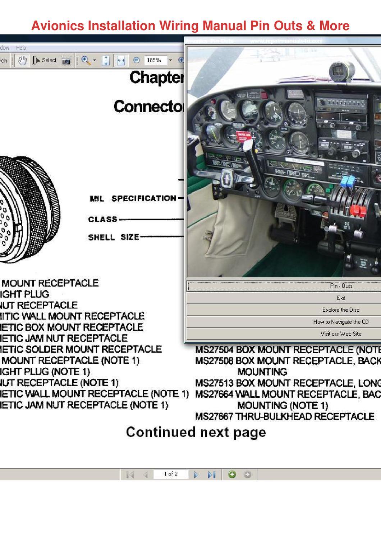 Avionics Installation Wiring Manual Pin Outs by MoniqueMilton - issuu