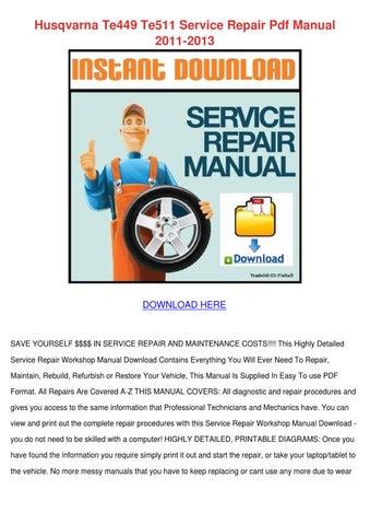 husqvarna chainsaw manuals service repair maintenance parts