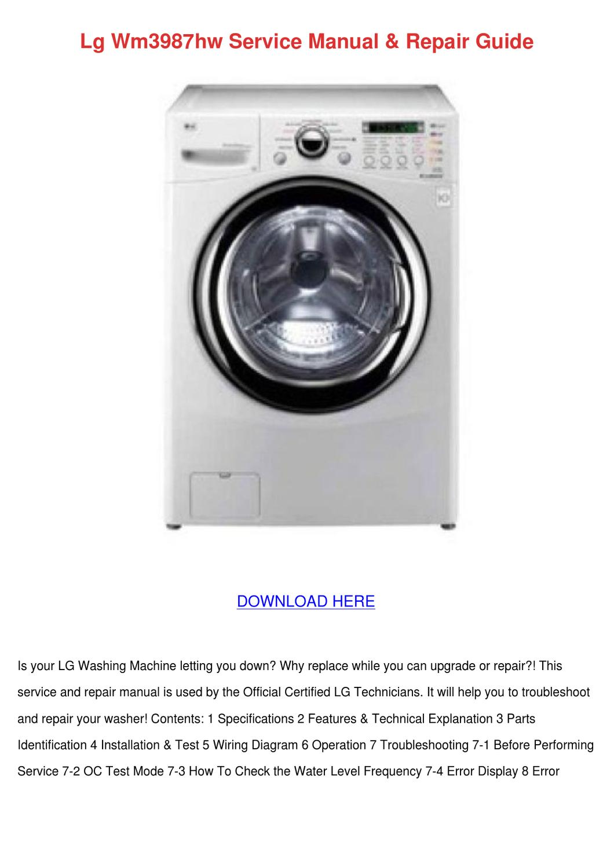 lg wm3987hw service manual repair guide by arleneadam issuu. Black Bedroom Furniture Sets. Home Design Ideas