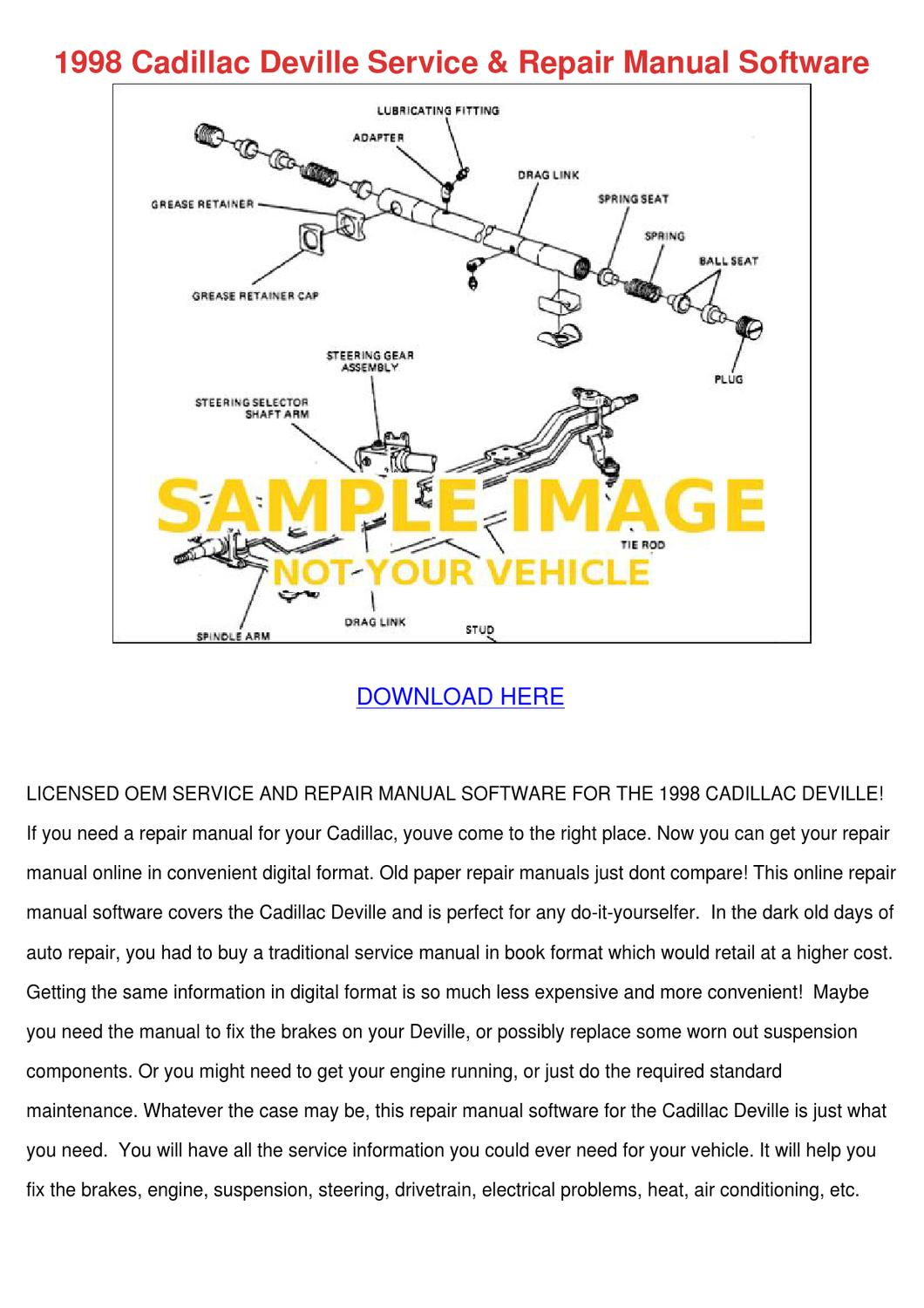 1998 Cadillac Deville Service Repair Manual S By