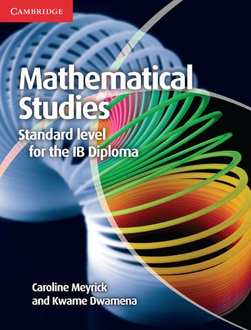 Mathematical Studies For The IB Diploma By Cambridge