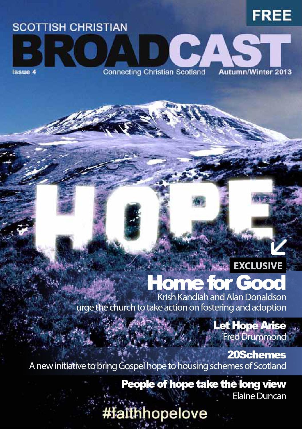 Scottish Christian Broadcast Magazine - Autumn Winter 2013 by