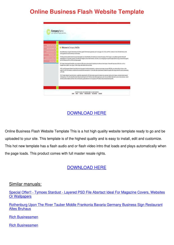 online business flash website template by dallasbrunson