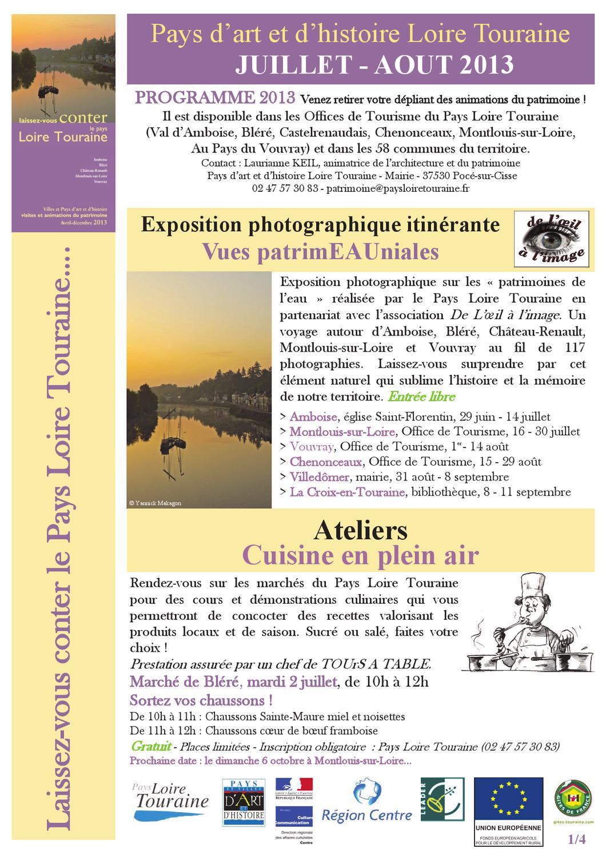 Lettre info ete 2013 pays dart et dhistoire loire touraine by david le tellier issuu - Office de tourisme vouvray ...