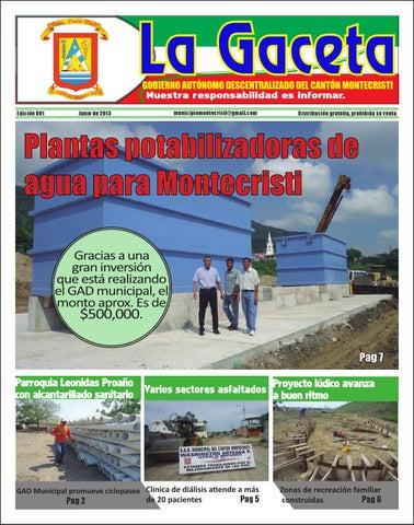 f0472c4321506 Periodico LA GACETA Edición 001 by Gobierno Autónomo Descentralizado ...