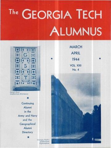 Georgia Tech Alumni Magazine Vol 22 No 04 1944