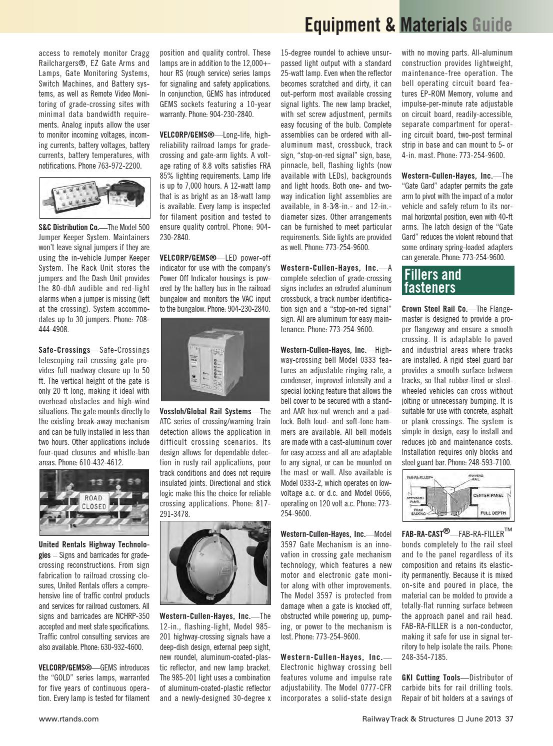 Rts0613 by Railway Track & Structures - issuu