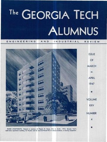 Georgia tech alumni magazine vol 25 no 04 1947 by georgia tech the georgia tech alumnus malvernweather Gallery