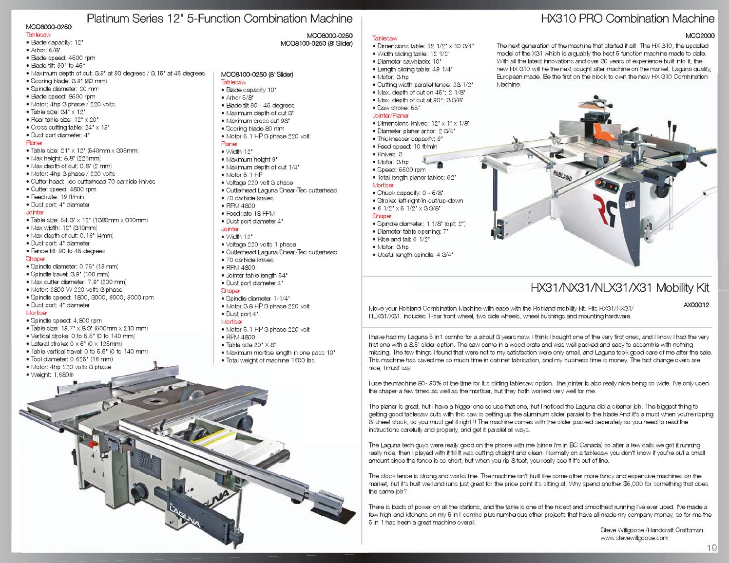 Laguna Tools Catalog By Issuu 70