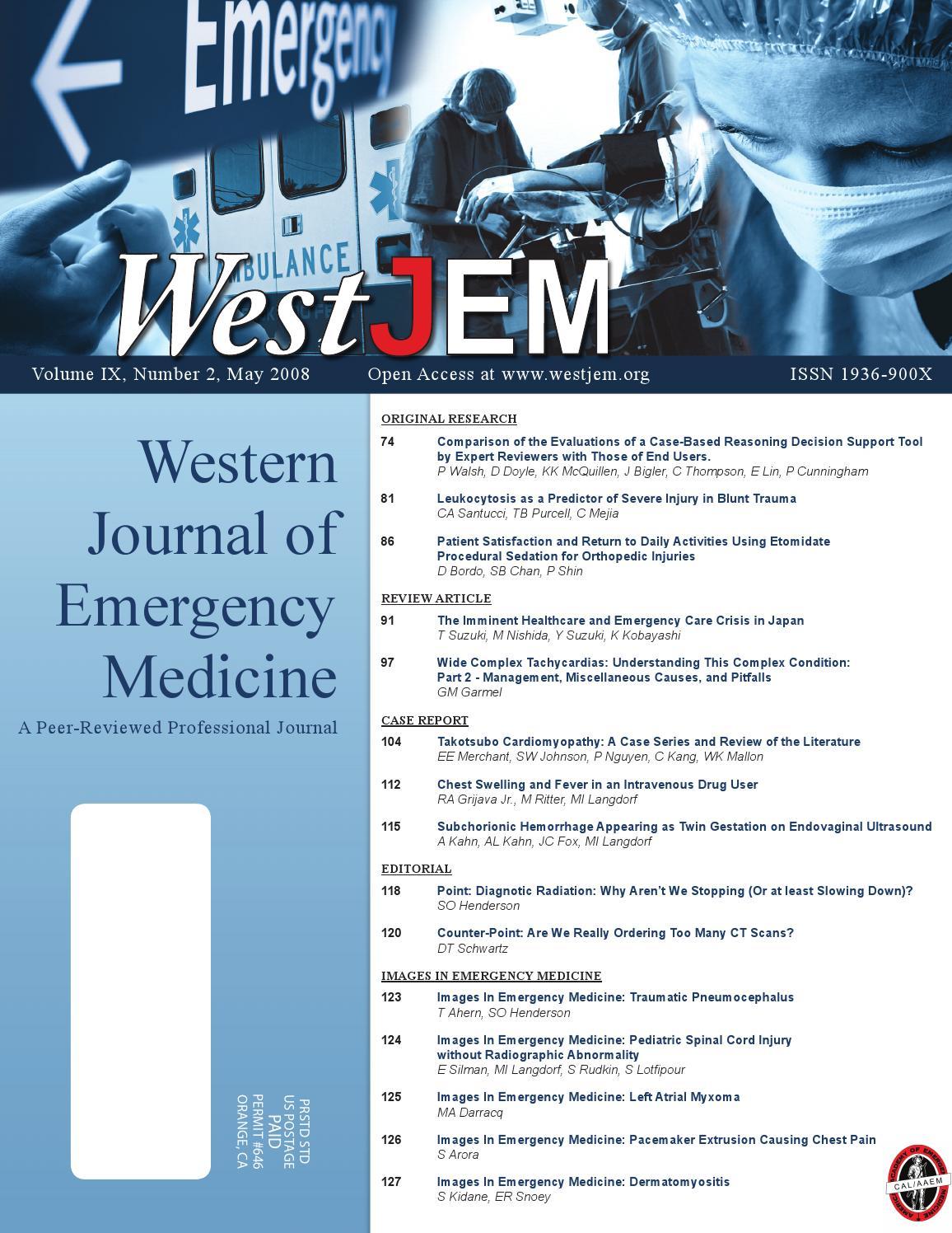 Volume 9 Issue 2 By Western Journal Of Emergency Medicine Issuu 20059 Hopkins Wiring Diagram