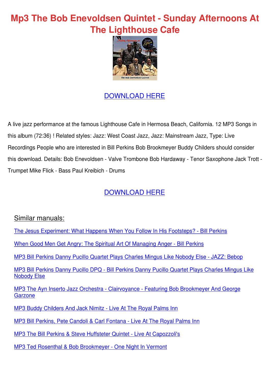 Mp3 The Bob Enevoldsen Quintet Sunday Afterno By border=