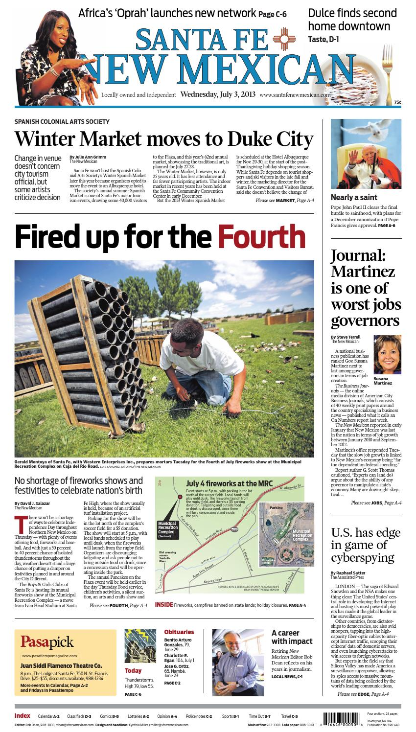 The Santa Fe New Mexican, July 3, 2013 by The New Mexican
