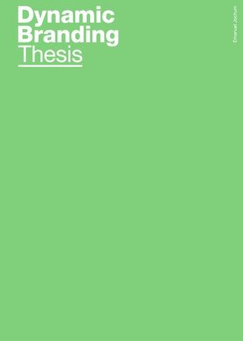 Service branding thesis