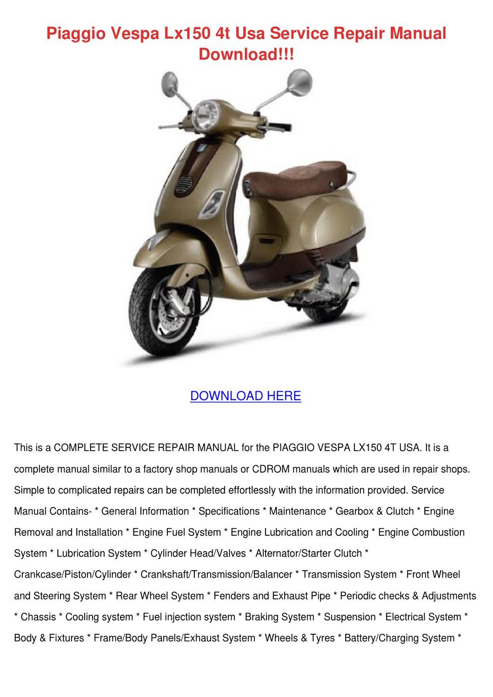 gs series Array - vespa gt200 2005 2009 full service repair manual ebook rh  vespa gt200 2005 2009
