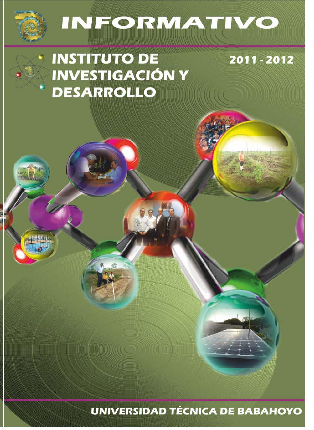 informativo 20112012 del instituto de investigaci243n y