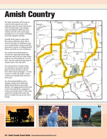 Amish Wisconsin Map.Sauk County Wisconsin Travel Guide By Capital Newspapers Issuu