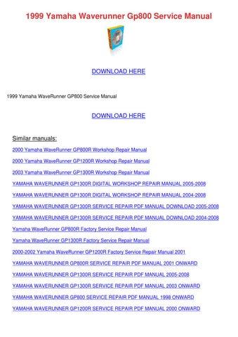 Gp800 Service manual