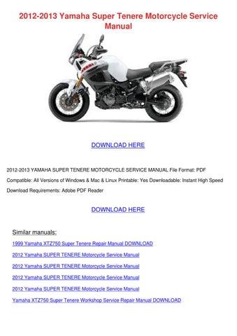 2010 yamaha xt1200z super tenere service repair manual instant download