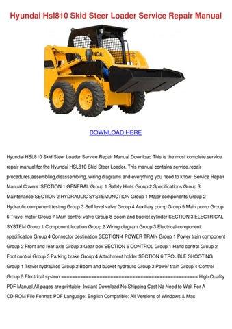 Hyundai Hsl810 Skid Steer Loader Service Repa by SeanPackard  Issuu