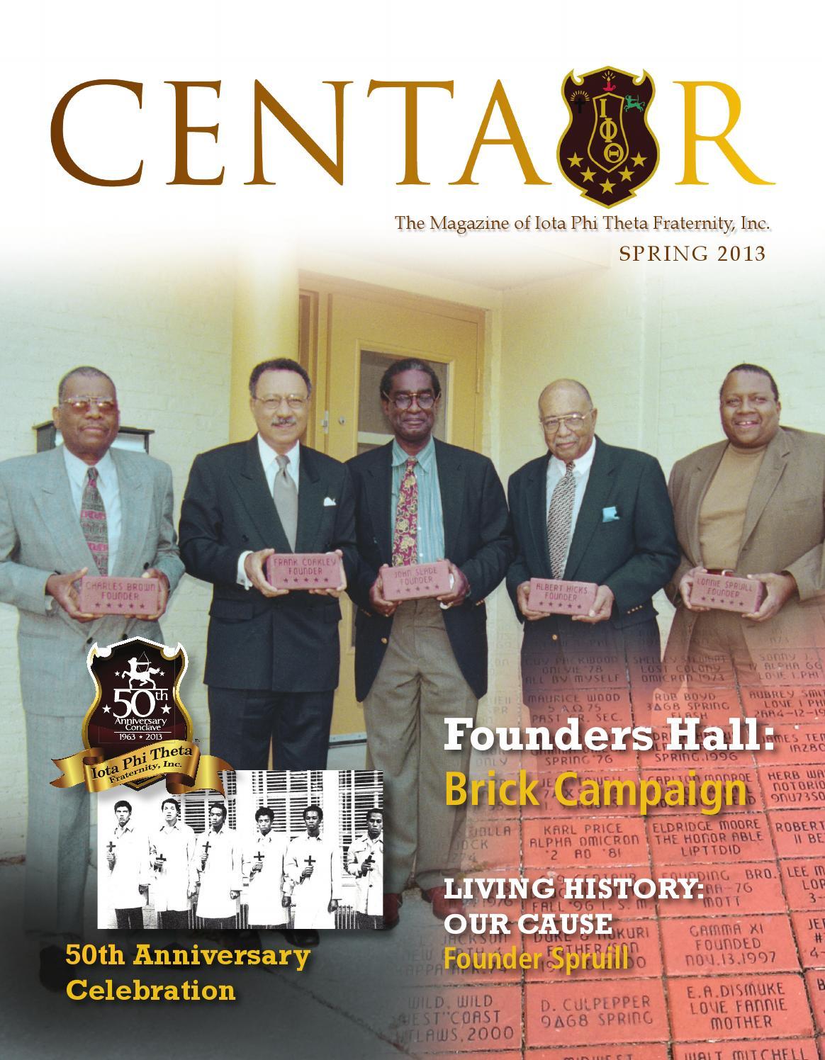 5a4982674b062 Centaur spring 2013. The Centaur is the official publication of Iota Phi  Theta ...