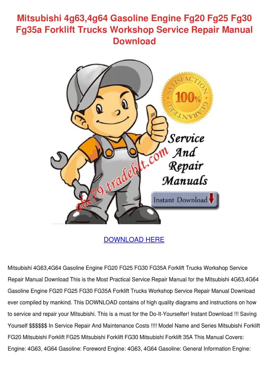 mitsubishi fg25 forklift service manual