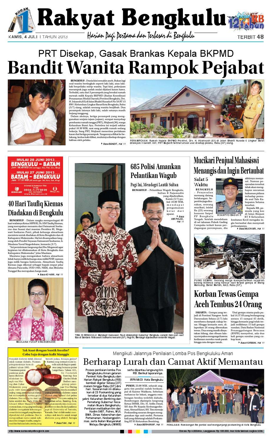 4 JULI 2013 by Rakyat Bengkulu rb - issuu