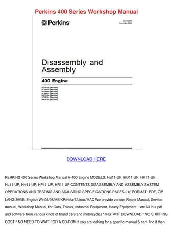 perkins 400 series workshop manual by elliecoyle issuu rh issuu com perkins 400 workshop manual BMW Workshop Manual